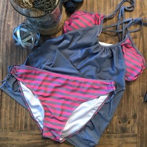 Two Piece Tankini Bathing Suit